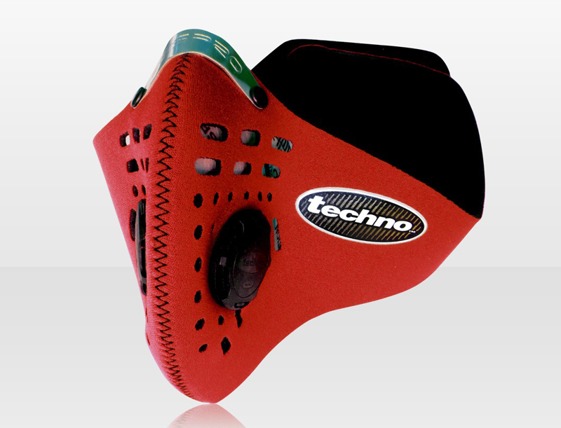 Techno légszûrõ maszk - piros - L